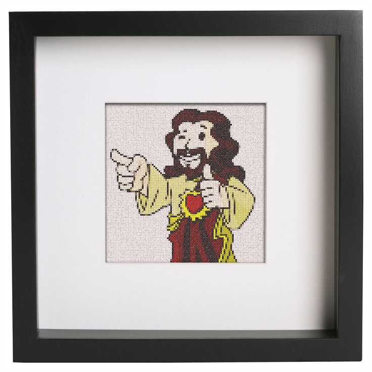 "Fallout Vault Boy Mascot ""Buddy Christ"" Cross Stitch Pattern For Fallout And Cross Stitch Fans by StitchCreationShop on Etsy"