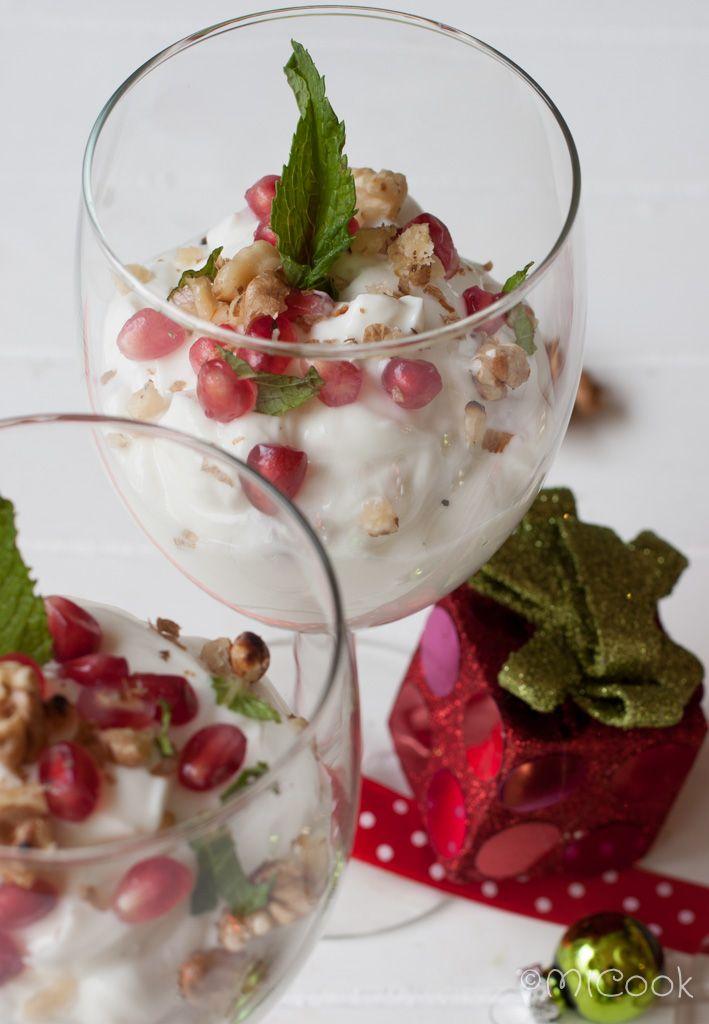 Griekse yoghurt met granaatappel & walnoten
