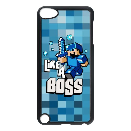 Minecraft Like A Boss Blue apple ipod 5 touch case cover $16.50 #etsy #Accessories #Case #CellPhone #iPod5touch #hardcase #plasticcase #hardcover #games #minecraft #matrix #keanureaves #LikeABoss #blue