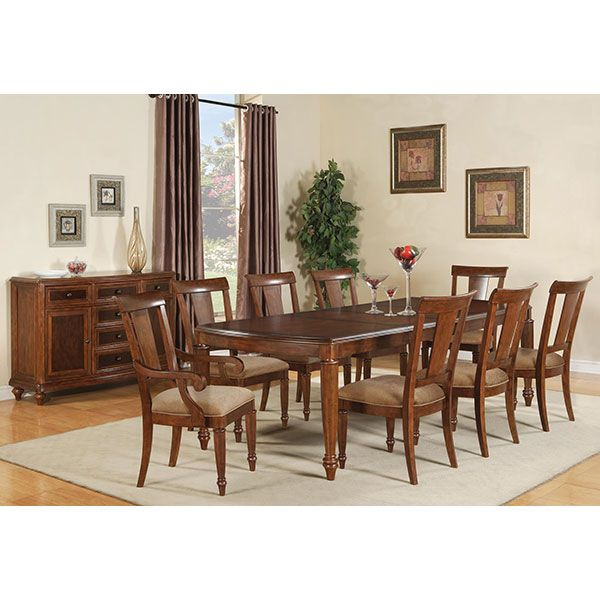 arlington round sienna pedestal dining room table w chestnut finish. brendon dining set from wynwood. transitional, with a hazelnut and cabernet finish on cherry arlington round sienna pedestal room table w chestnut