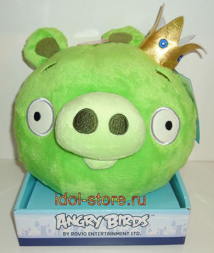 """Angry Birds, King Pig plush toy. Плюшевая игрушка """"Сердитые Птички"""", Король свиней со звуком"""