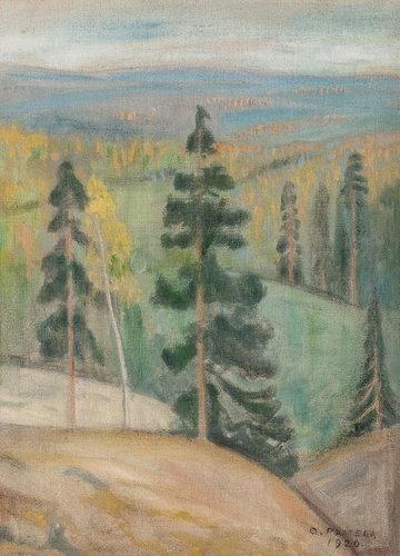 OSKARI PAATELA View of Koli (1920)