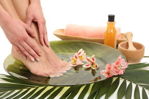 Why do we neglect our feet during winter?  Time to get those heels back in order! Its Foot pamper time! Pour 1 cup of milk and 5 cups of warm water in a foot bath tub or large basin and soak your feet for five to 10 minutes. In a bowl, pour baby oil and sugar or salt and mix well. Make into a thick paste and apply all over feet, massaging in circular motions. Finish with a pumice stone scrub on callused heels.