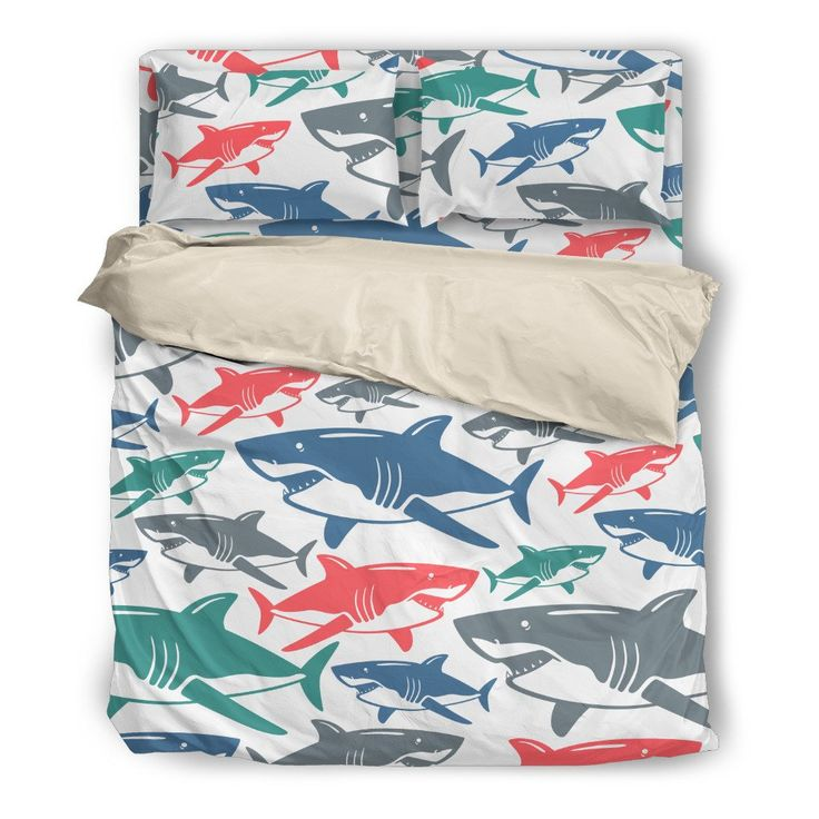 shark bedding set natalie pinterest. Black Bedroom Furniture Sets. Home Design Ideas