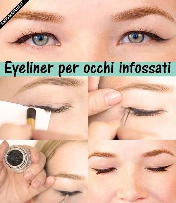 come applicare l'elyeliner per occhi infossati
