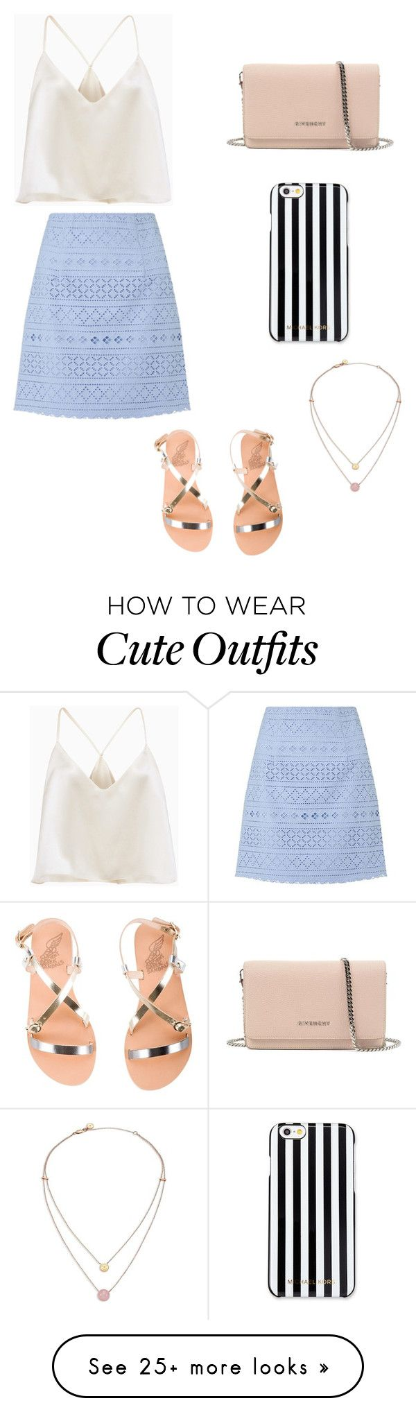 """""""Cute Summer Outfit"""" by lsantana13 on Polyvore featuring Lipsy, Givenchy, MICHAEL Michael Kors, Michael Kors and Ancient Greek Sandals"""