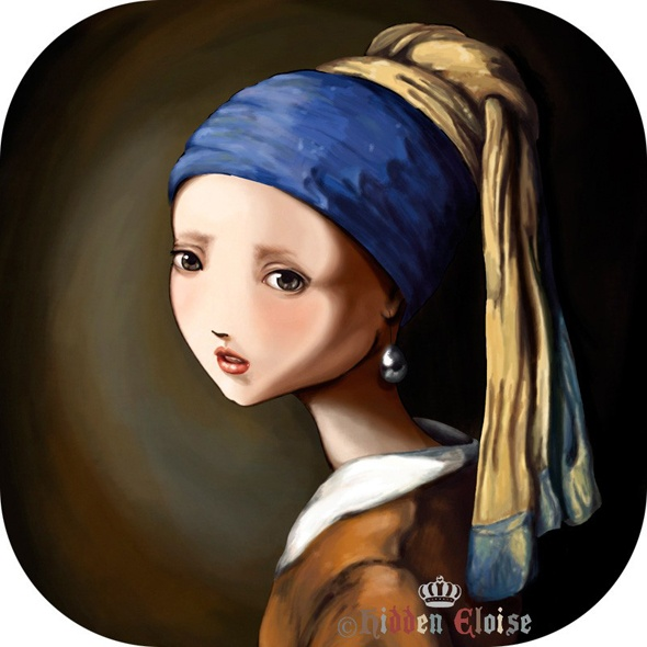 Girl with Pearl Earring - anime style