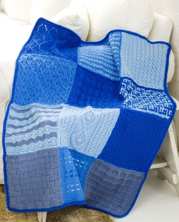 Free Knitting Pattern For 12 Square Sampler Afghan