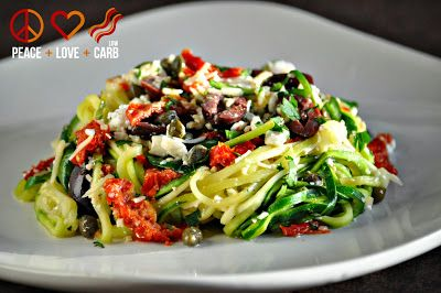 """Mediterranean """"Pasta"""" - Low Carb, Gluten Free, Primal 