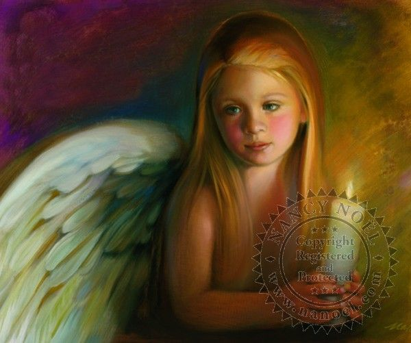 Nancy Noel Paintings | Angel of Light - Angel - The Sanctuary: The Art of Nancy…