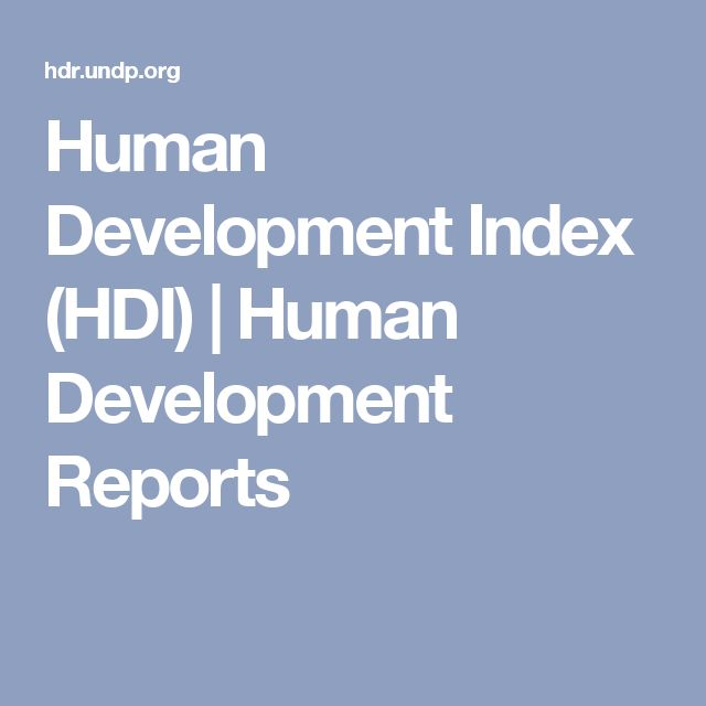 Human Development Index (HDI) | Human Development Reports