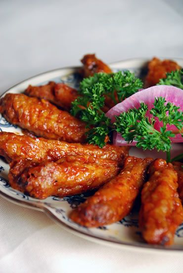 Sticky Chinese Fried Chicken Wings | International Recipes