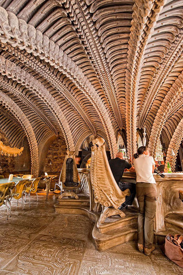 H. R. Giger Museum Bar, Gruyeres, Swizerland  20 of the world best restaurant and bar interior designs