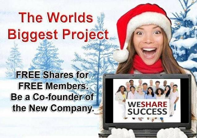 "Have you heard about the ""We Share Success"" (WSS) Company Sharing Phenomenon?  Join the WSS NOW':  www.wesharesuccess.com/?refid=rljlG"