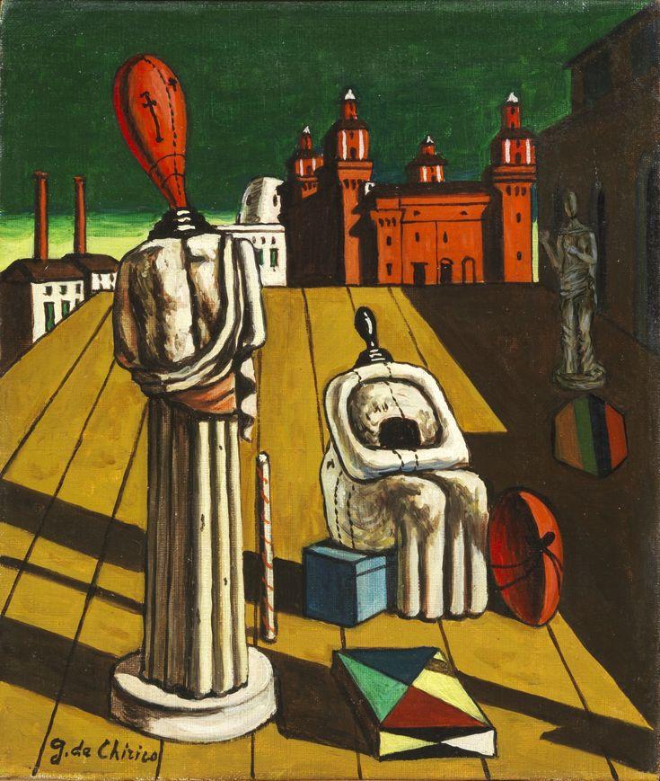Giorgio de Chirico, Le muse inquietanti, 1960-62.  Courtesy Tornabuoni Art