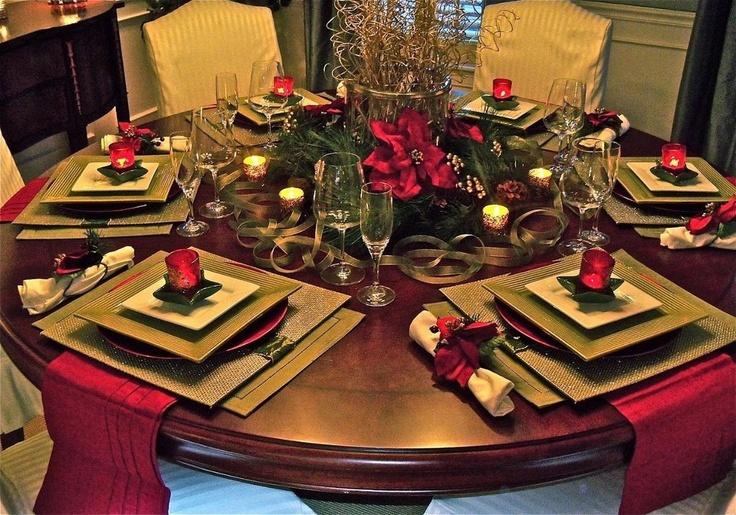 Mesa decoração natalina...