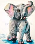 ELEPHANT ARTWORK PRINTS - WILD THING