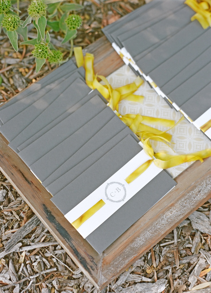 ceremony programs for our Ojai wedding / by Papel Paper + Press, design by Lisa Vorce, photo by Aaron Delesie