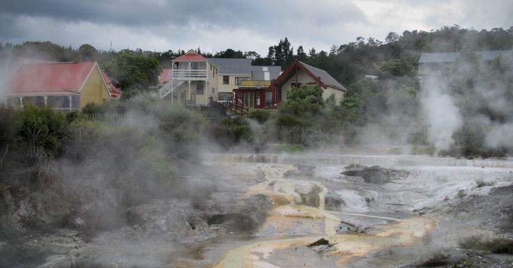 This photo has appeared in our advertising and is also in our calendar. It was taken at the #Whakarewarewa thermal village in #Rotorua #NewZealand. The two Māori tribes that live there have been welcoming guests to their village since the early 1800's.  The photo does not tell a lie. The villagers really do live this close to the geothermal activity, using different pools to cook and bath in.