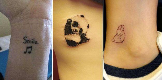 Deliziosi e da donne i tatuaggi piccoli femminili sono facili da coprire e quando non piacciono più si possono rimuovere senza fatica