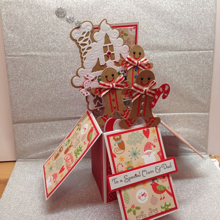 gingerbread house pop up card  using tonic gingerbread man die  spellbinders gingerbread house