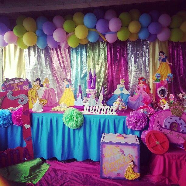 8 best party princesa disney images on pinterest for Decoracion de princesas