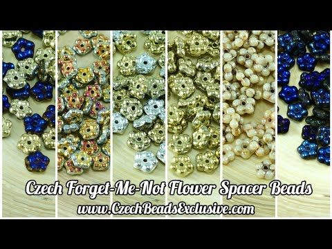 All new Czech Small Forget-Me-Not Flower Spacers in 1 video!  They are so small, but useful! SHOP NOW: www.CzechBeadsExclusive.com