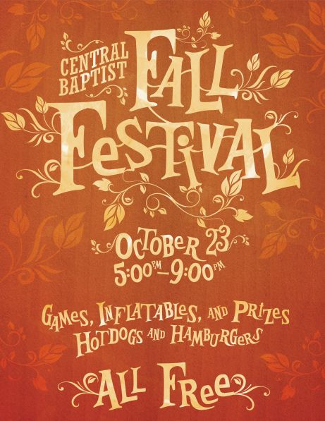 Fall Festival Poster by Anthony Stamey; I like the storybook feel to it