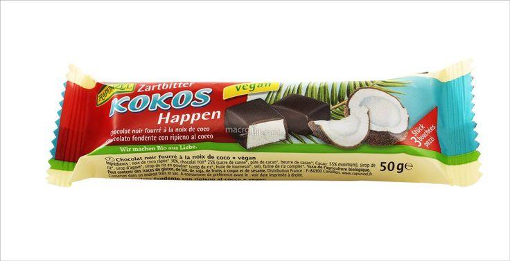 Kokos Happen Rapunzel - Barrette di cioccolato con ripieno al cocco