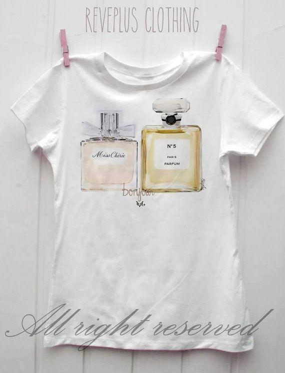 Lovely new t-shirt white cotton Perfume de di ReveplusAtelier