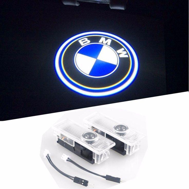 BMW Easy Installation Car Door LED Logo Projector Ghost Shadow Lights 2-pc Set…