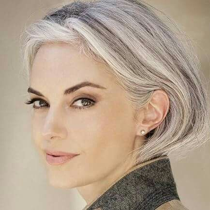 Women are opting to go grey in their 30's ...it works, provided the cut is on-trend and modern. www.chataromano.com
