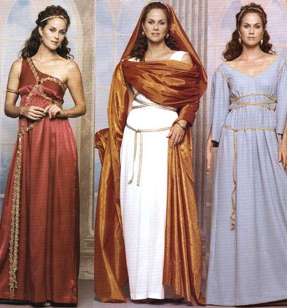 Styles of Ancient Roman women.