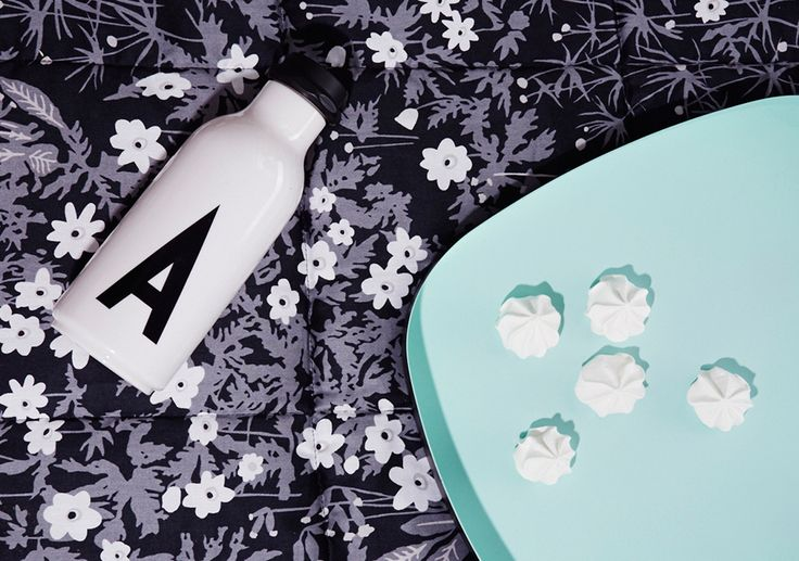 Picnic setting! Flowers by AJ quilt and a personal water bottle. Available in A-Z.