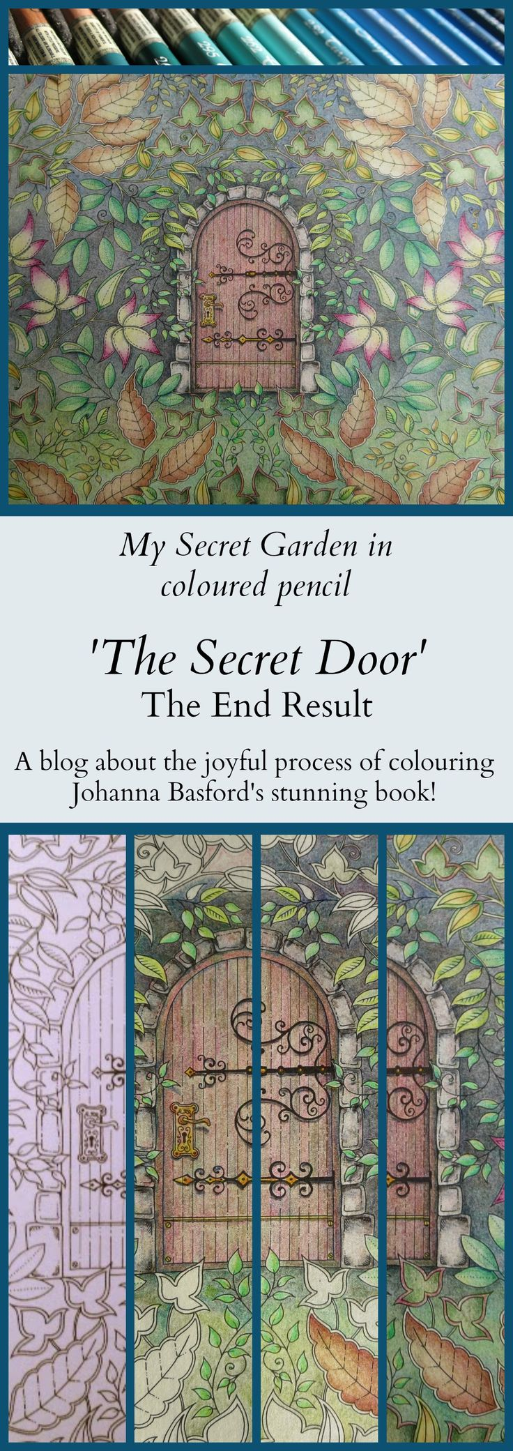 The secret garden coloring book finished - I Finally Finished The Secret Door After Three Months Of Happy Colouring This