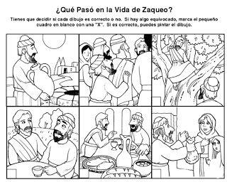 SGBlogosfera. Amigos de Jesús: HISTORIA DE ZAQUEO: ACTIVIDADES                                                                                                                                                     Más