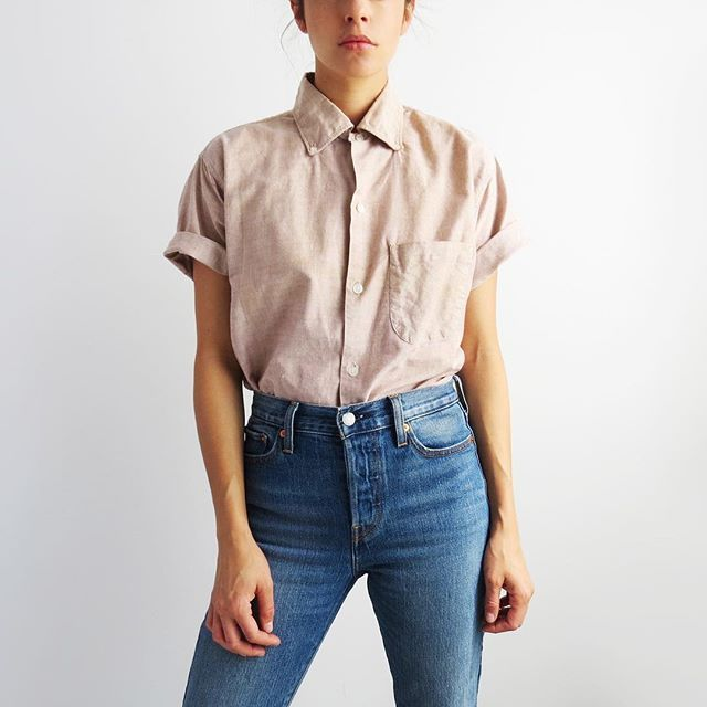 A classic. 1960's button down short sleeve shirt, up on the site