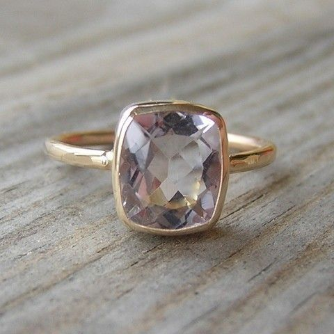 Ballerina Ring, 14k Gold and Morganite Made To Order
