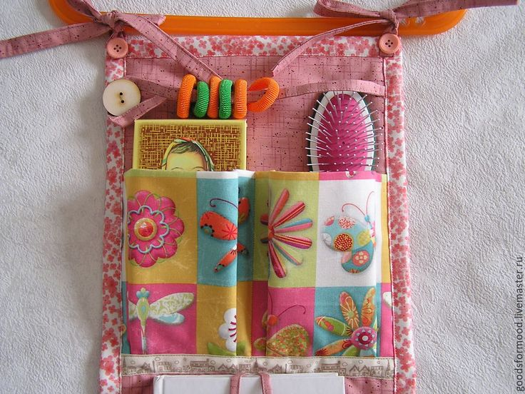 Купить Кармашки разноцветно-розовые - кармашки, кармашки в детскую, кармашки на кроватку, кармашки для мелочей, для детей
