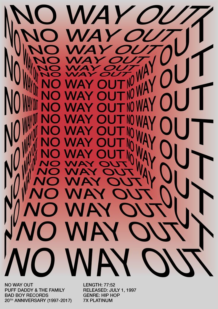 No Way Out—Puff Daddy posters on Behance