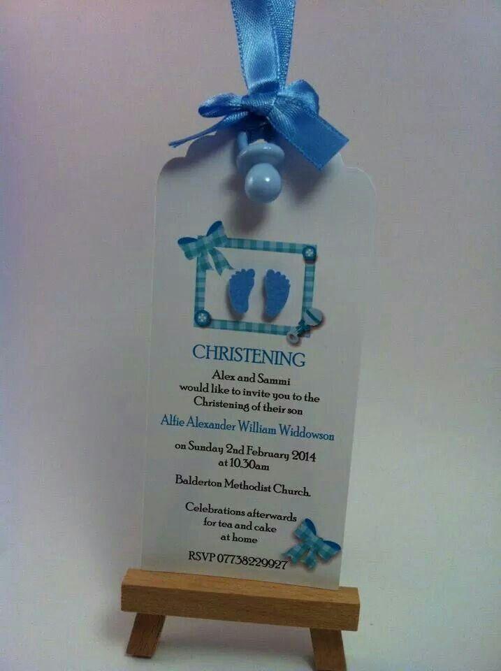 free online christening invitation making%0A Boy u    s christening invitation