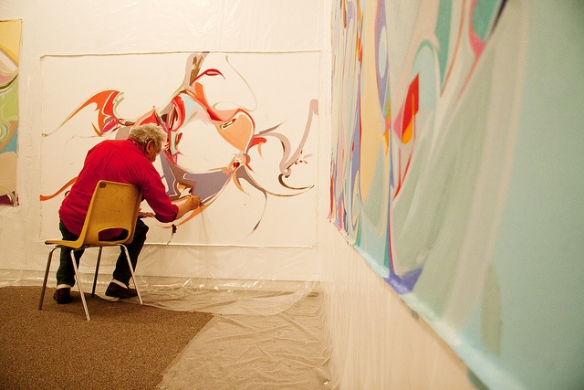 Artist Alex Janvier @ TRU #4 by Thompson Rivers, via Flickr  Thompson Rivers University in Kamloops, BC, Canada    Aboriginal, First Nations, Native