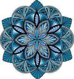 Energize It Ocean Mandala by Jane Snedden Peever:
