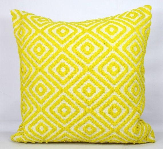 Chaise Sofa Lemon pillow shams standard shams yellow throw pillow covers