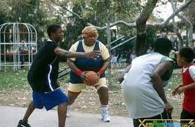 Big Momma's House (2000)   Big Momma (Martin Lawrence) plays basketball with Trent (Jascha Washington)
