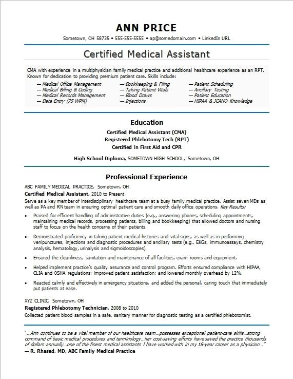 This Resume Sample Shows How You Can Highlight Your Patient Care And