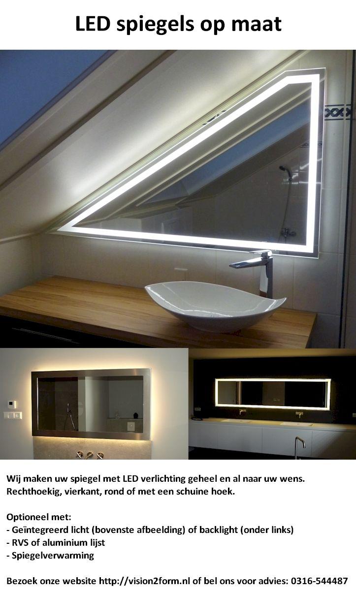 12 best LED spiegels maatwerk images on Pinterest | Homemade ice ...