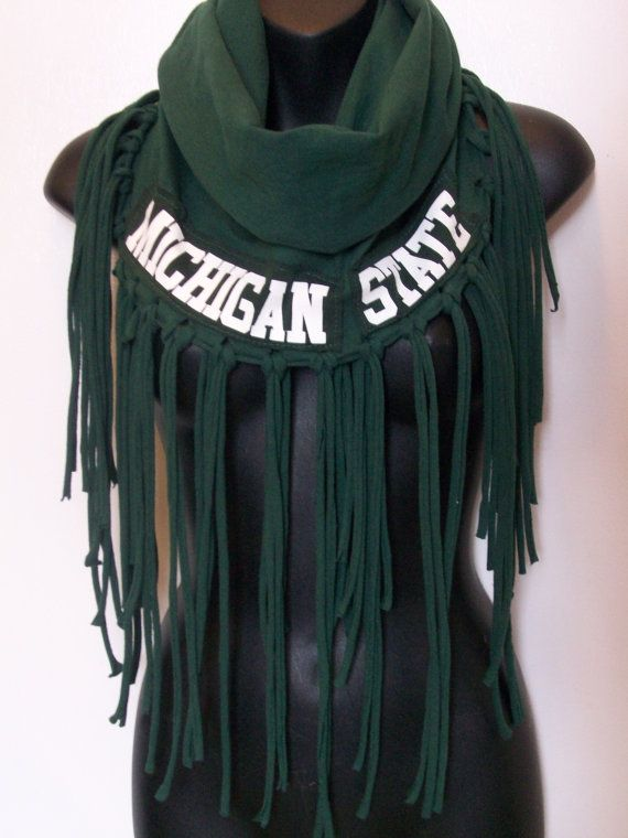 MSU scarf Infinity Michigan State University Spartans by LamaLuz, $35.00