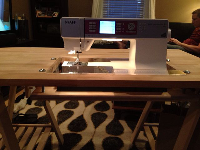 diy custom sewing table