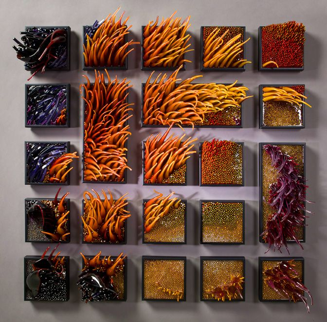 glass sculptures by Shayna Leib/ what I wouldn't give to see this exhibit in person! click thru for more!